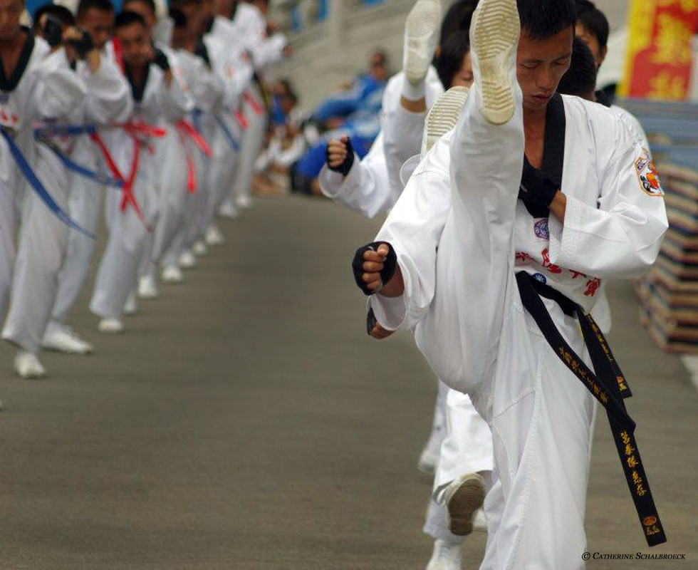 Taekwondo show, Taipei 2011.