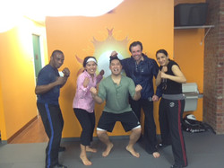 Self Defense students after testing