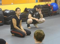 Sara Teaching Self Defense
