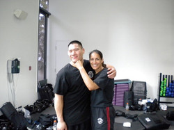 Raymond Wong & Sara after Brown Belt Test