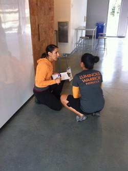 Sara teaching at Gallaudet University in Washington DC