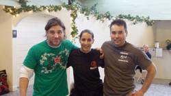 Jeff Jimmo, Sara Salam, James Hiromasa at Krav Maga Wintercamp