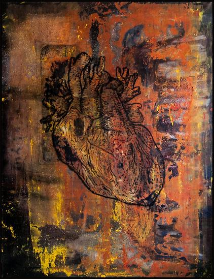 "Pittjes Hitschfeld ""black heart"" figurativepainting, expressiveart,painting, malerei, mixedmedia, germanart,saatchiart,saatchionline,contemporaryart,"