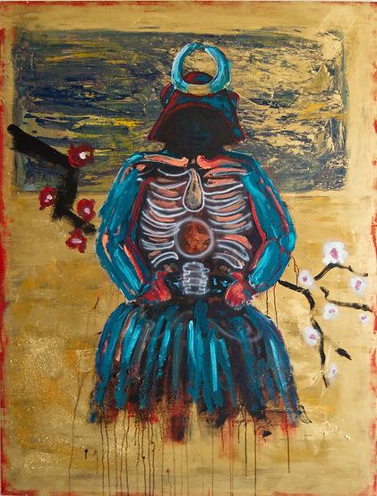 """Pittjes Hitschfeld """"The Last Samurai""""Japan,Art,Sakura, Kirschblüten,figurativepainting,acrylics,germanart"""