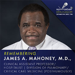 Join Arthur Ashe Institute's Sportsball 200 virtual gala  as we honor SUNY Downstate's James A. Mahoney, M.D.
