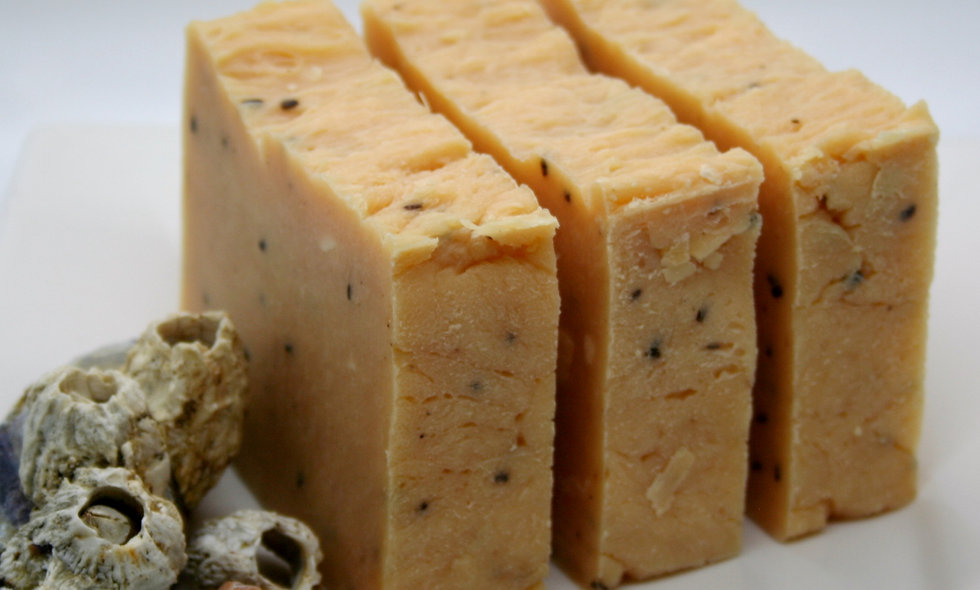 Apricot and Blackberry Seed Olive Oil Soap Bar