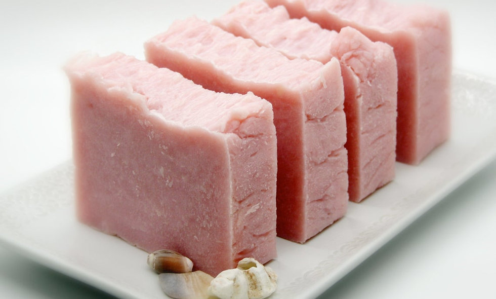 Pink Peony Olive Oil Soap Bar