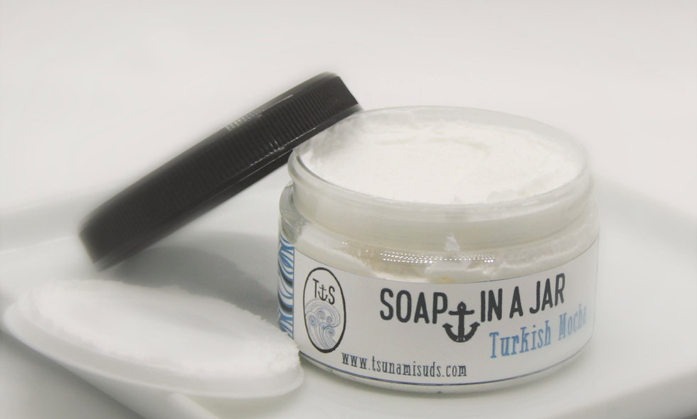Café Mocha (4.25 oz. jar) Soap In A Jar (Fluffy Whipp)