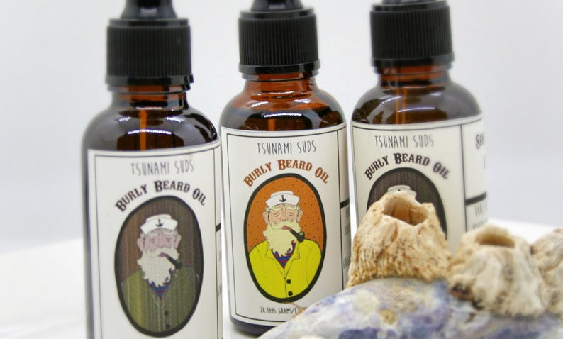 Burly Beard Grooming Oil (Pine Forest) with dropper