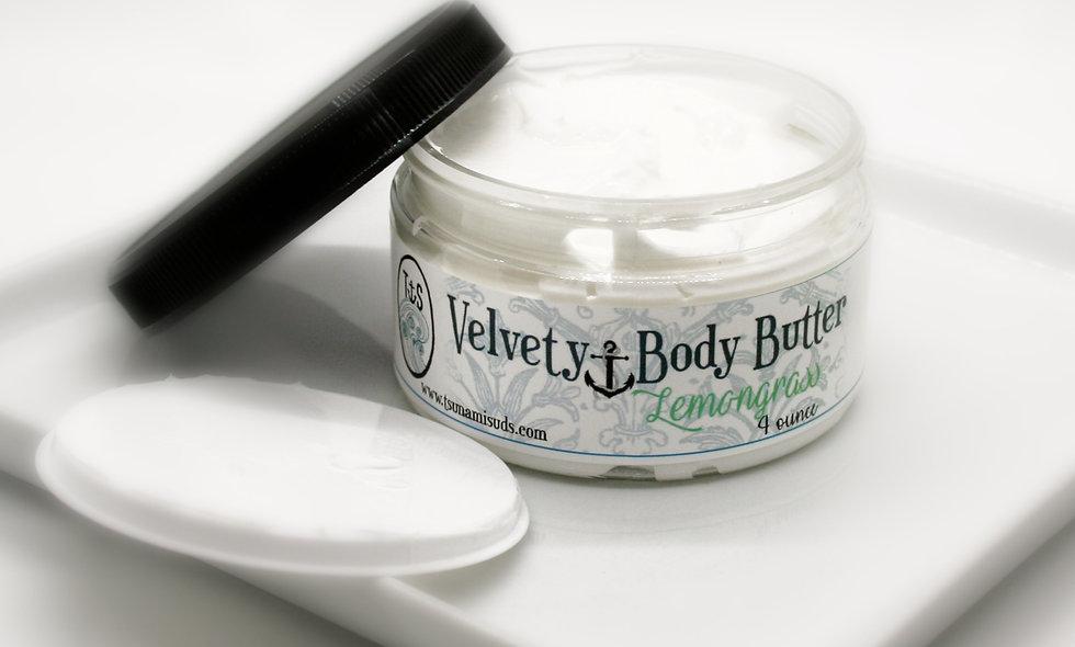 Velvety body butter lemongrass 4 oz. Jar