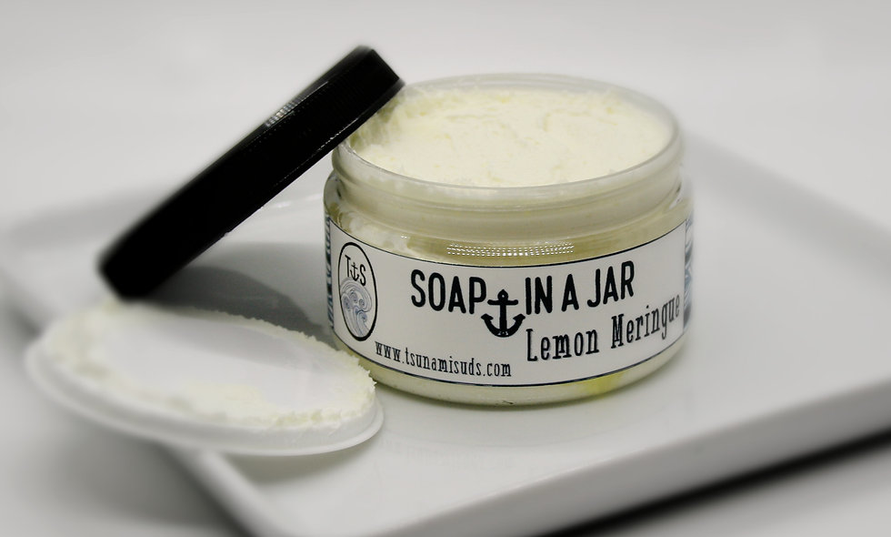Lemon Meringue (4.25 oz. jar) Soap In A Jar (Fluffy Whipp)