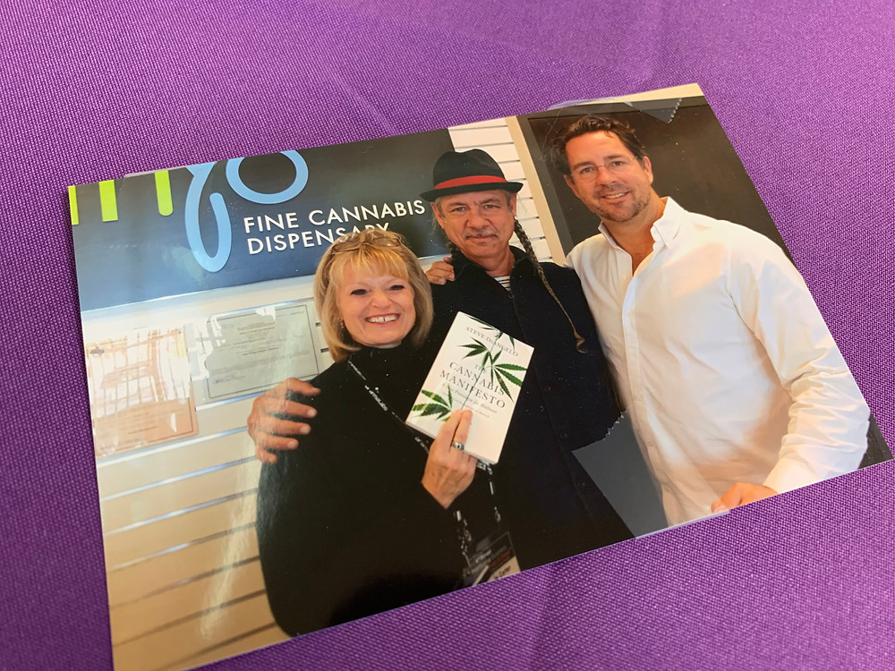 Highroad Founder Greta Carter, national cannabis leader Steve DeAngelo, and Inyo co-principal owner David Goldwater