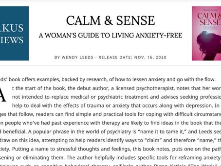 Book Review of Calm & Sense by Kirkus Reviews