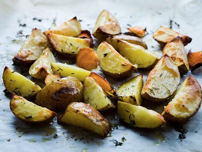 keptos bulvės su rozmarinais, Alfo Ivanausko receptas
