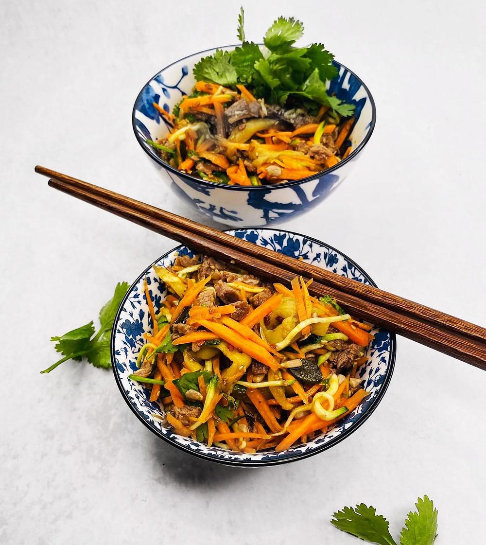 kiniškos salotos, Alfo receptai