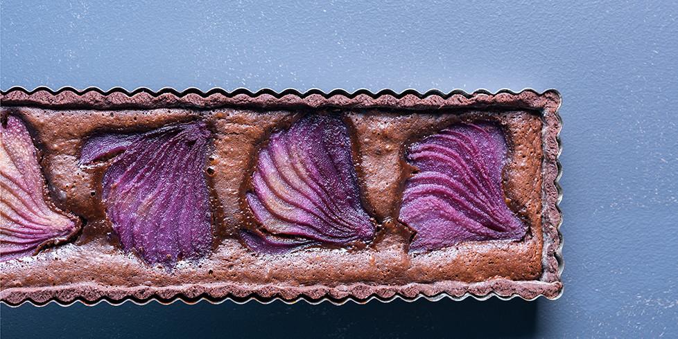 Šokoladinis tartas su kriaušėmis, vmg receptas