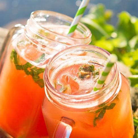 Arbūzų ir agurkų limonadas