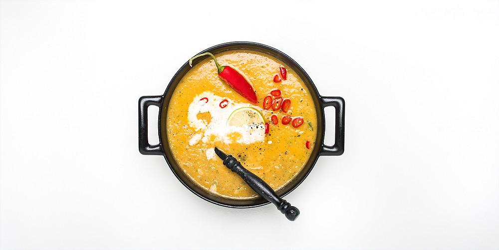 VMG valgo: cukinijų ir obuolių sriuba su kariu, vmg receptas