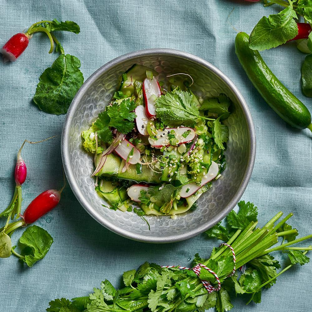 Agurkų salotos, Alfo Ivanausko receptas