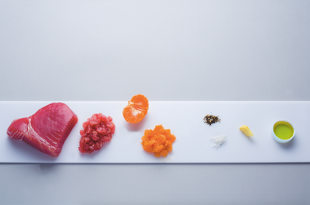 Tuno tartaras su mandarinais, vmg receptas