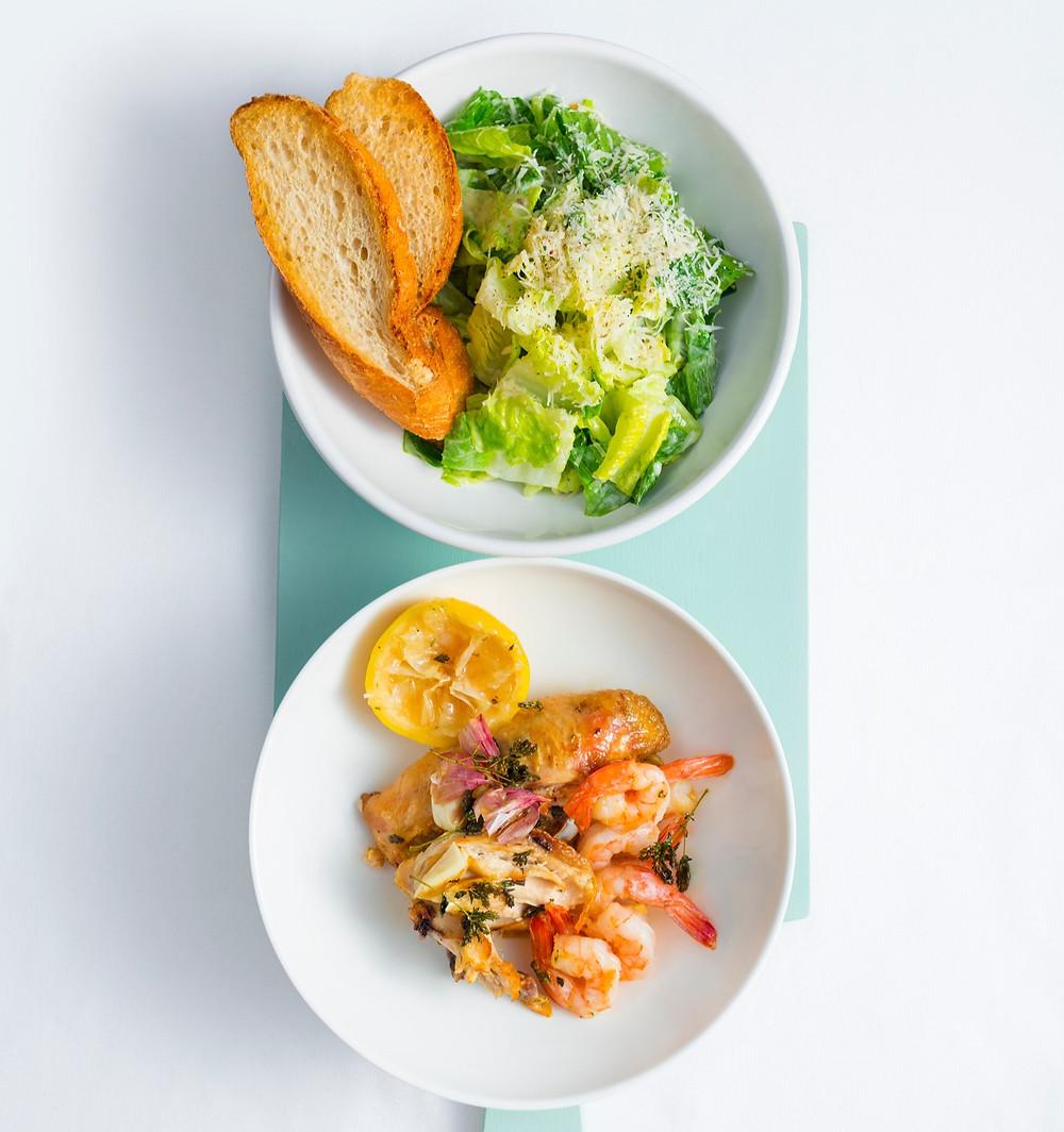 Cezario salotos su krevetėmis, receptas, Alfas Ivanauskas