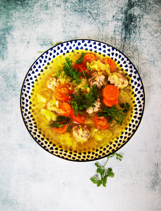 šviežių kopūstų sriuba, VMG receptai,