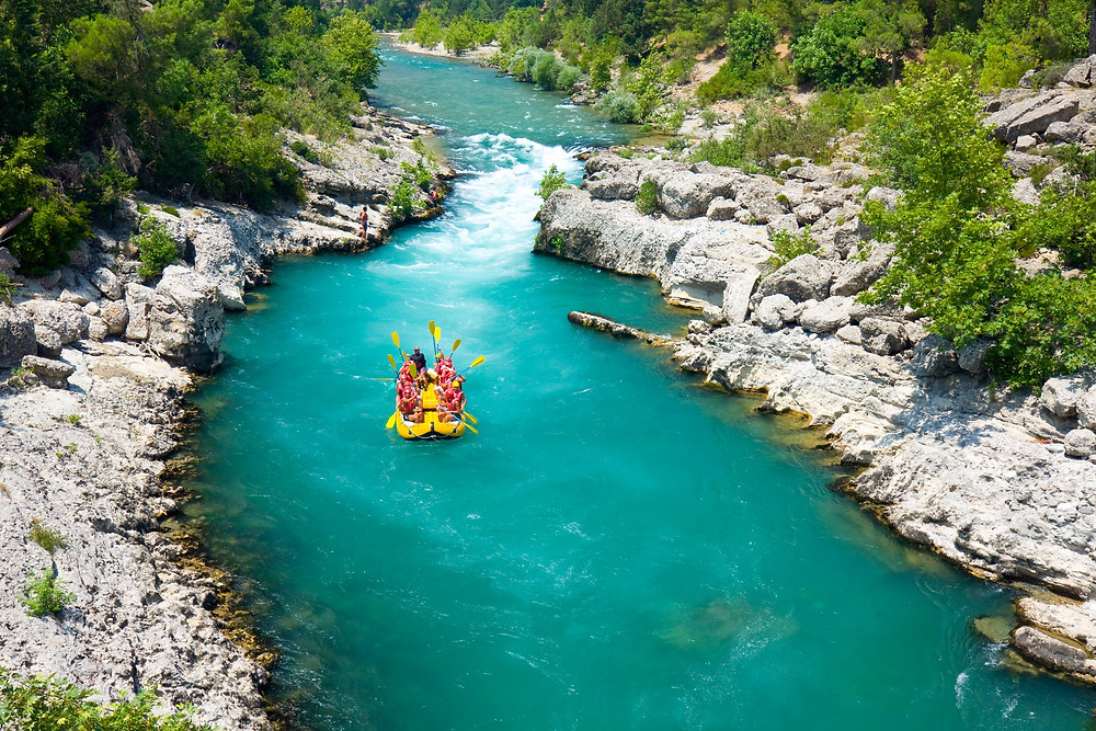 rafting in the green canyon, Alanya, Turkey