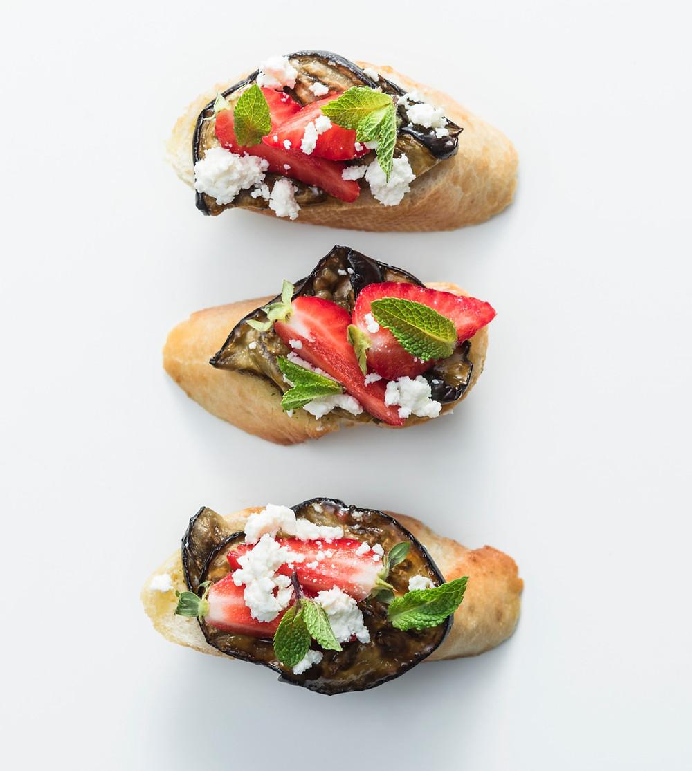 Vieno kąsnio sumuštiniai su baklažanu, Alfo Ivanausko receptas