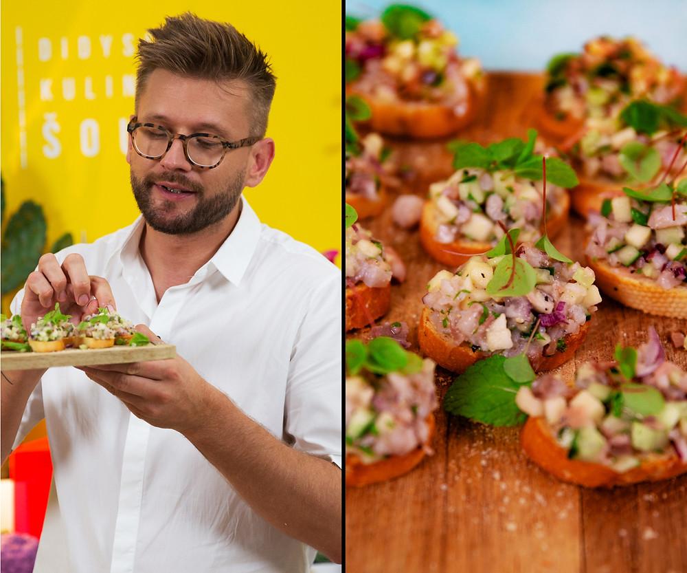 Silkės tartaras, Alfo didysis kulinarinis šou, receptai