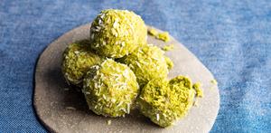 Žalieji triufeliai su matcha, vmg receptas