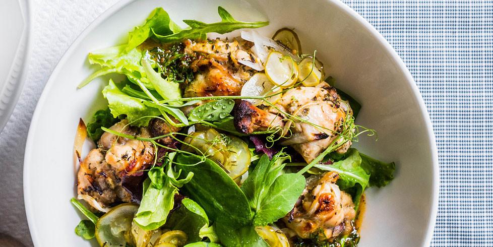 Vištienos blauzdelės azijietiška nata, vmg receptas