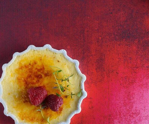 """Klasikinis """"Degintas kremas"""" (Crème Brûlée), vmg receptas"""