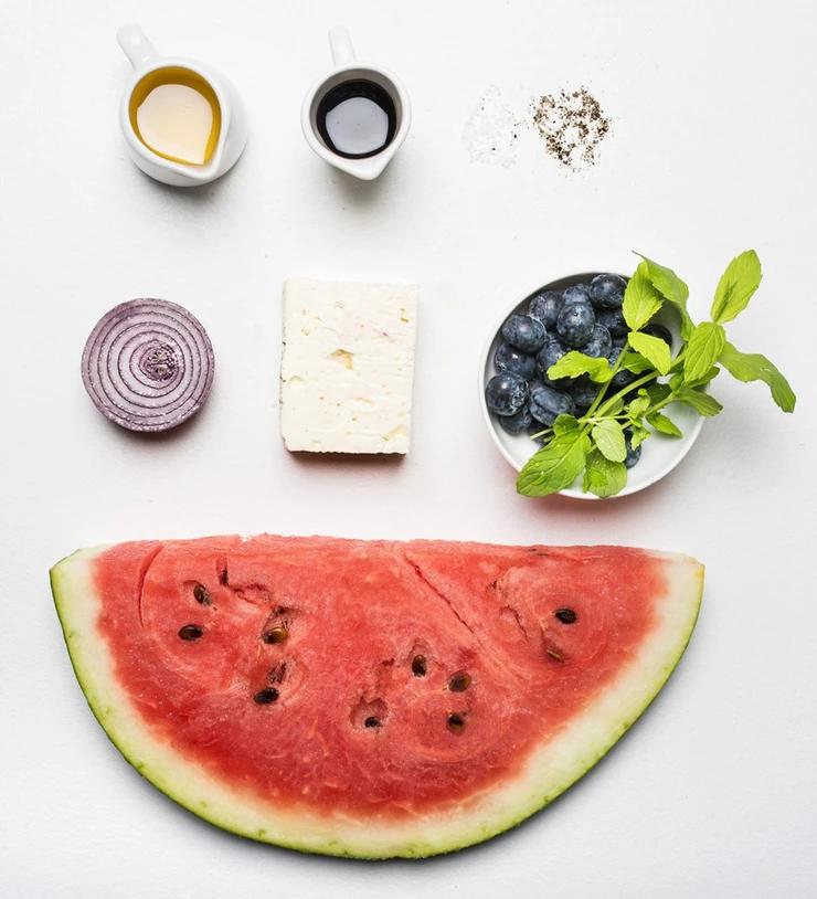 arbūzų salotos, Alfo Ivanausko receptas