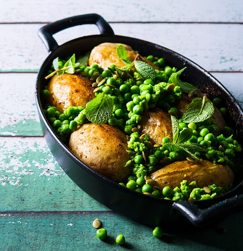 Bulvių ir žirnelių apkepas, Alfo Ivanausko receptas