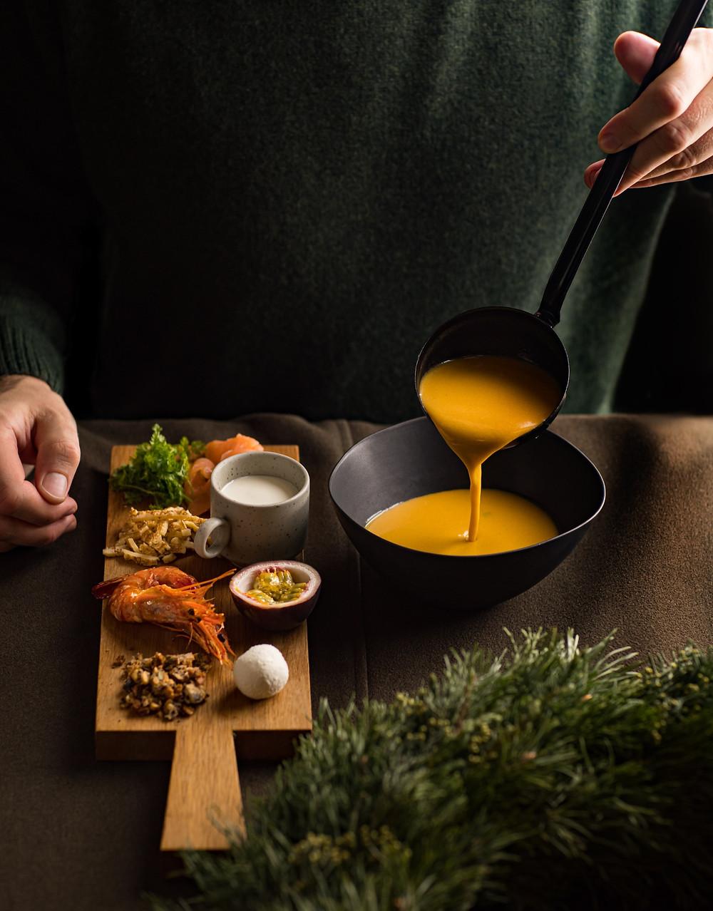 Moliūgų sriuba su skirtingais pagardais, Alfas Ivanauskas, receptai