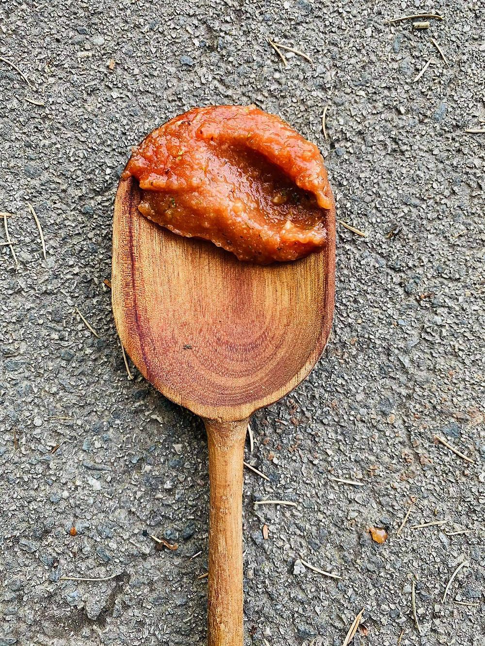 Keptų česnakų kečupas, Alfo Ivanausko receptas