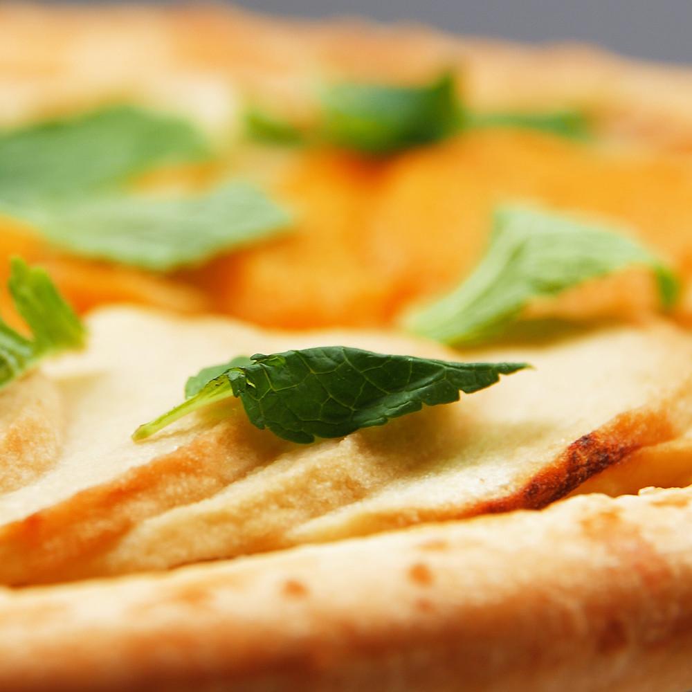 karamelinis pyragas su obuoliais ir persikais, Alfo receptas