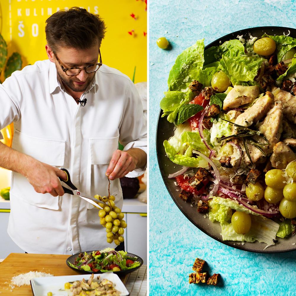 salotos su vynuogėmis, Alfo receptai