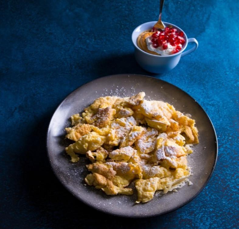 austriški blyneliai, plėšytas omletas, Alfo Ivanausko receptas