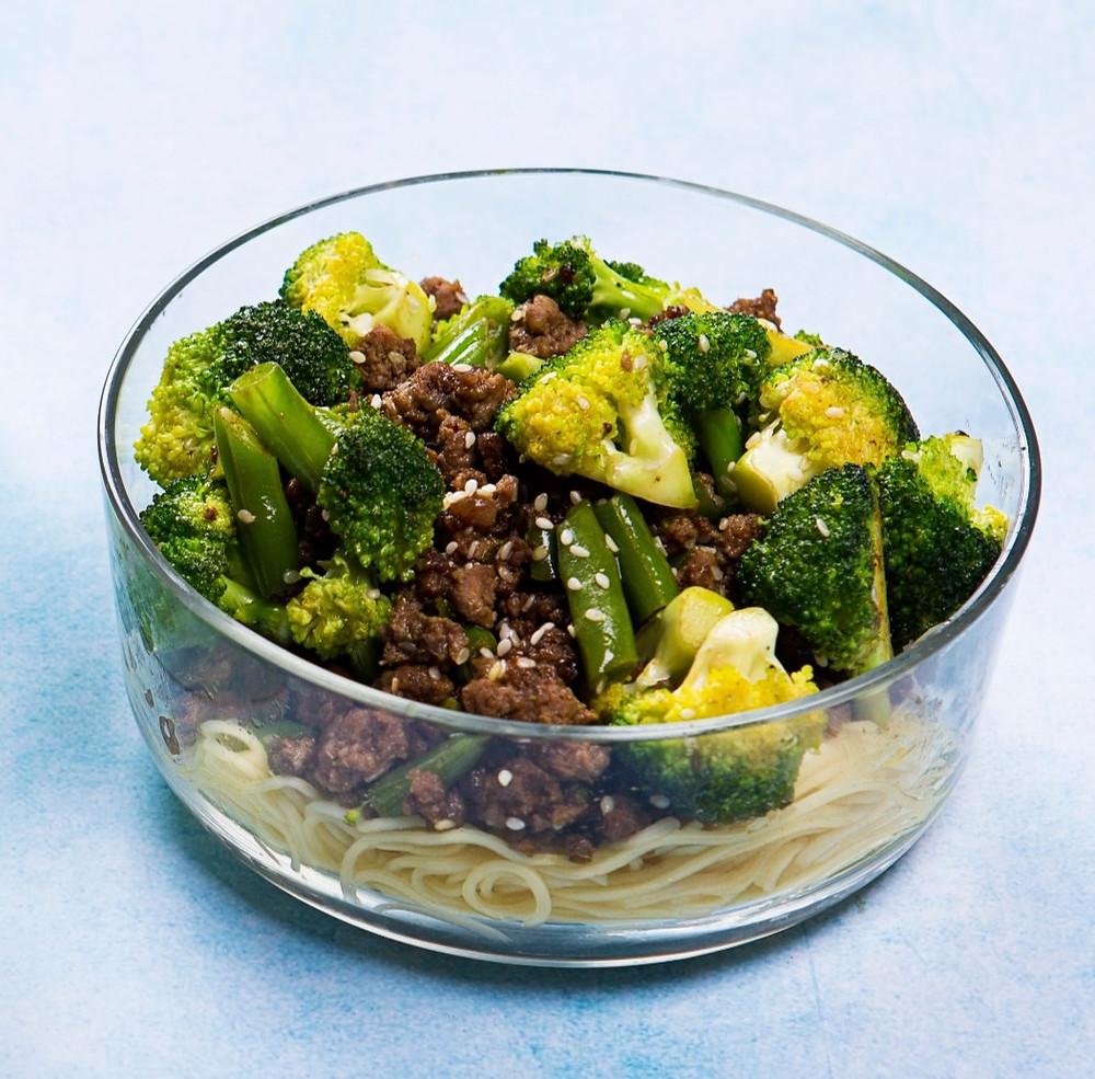 jautiena su brokoliais ir makaronais, Alfo receptai, greiti pietūs