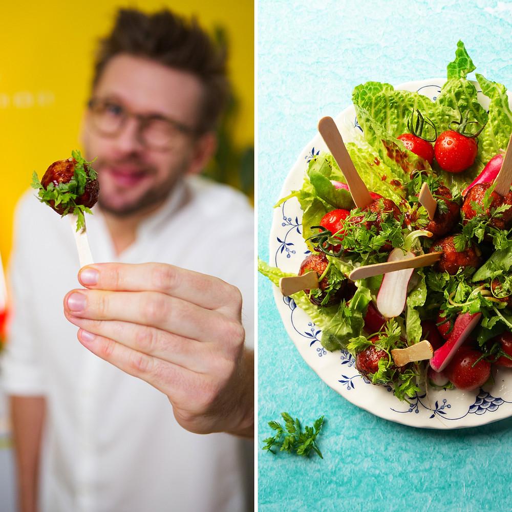 glazūruoti vegetariški kukuliai, Alfo receptas