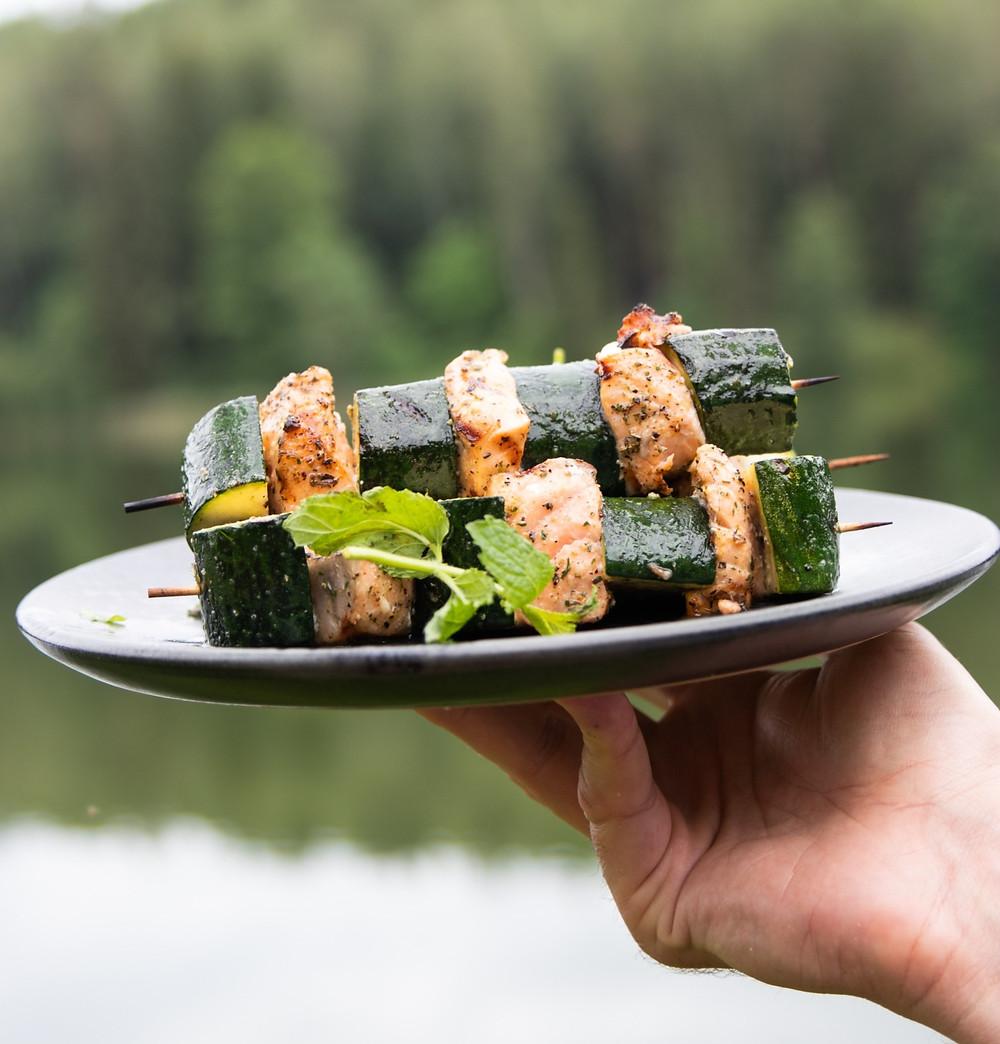žuvies iešmeliai su cukinija, Alfo Ivanausko receptas