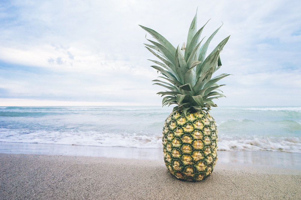 ananasas paplūdimys jūra