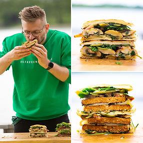 """ALFAS VIENAS GAMTOJE receptas: jautienos """"steiko burgeris"""" ir vegetariškos jo versijos"""