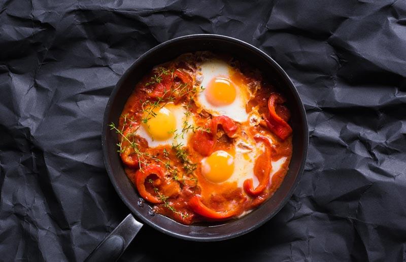 """Marokietiška kiaušinienė """"shakshuka"""", vmg receptas"""