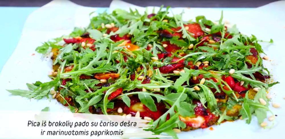 Brokolių pado pica, vmg receptas