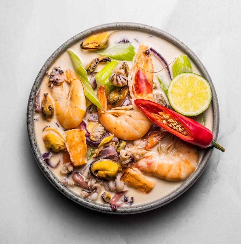 Azijietiška jūros gėrybių sriuba, Alfo Ivanausko receptai