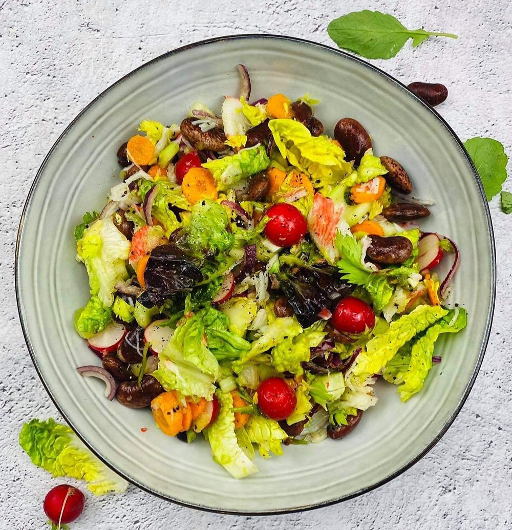 gaivios salotos su kivių padažu, Alfo receptas