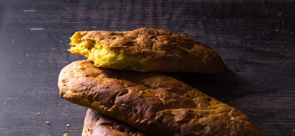 Kvapni bulvių duona su ciberžole, vmg receptas