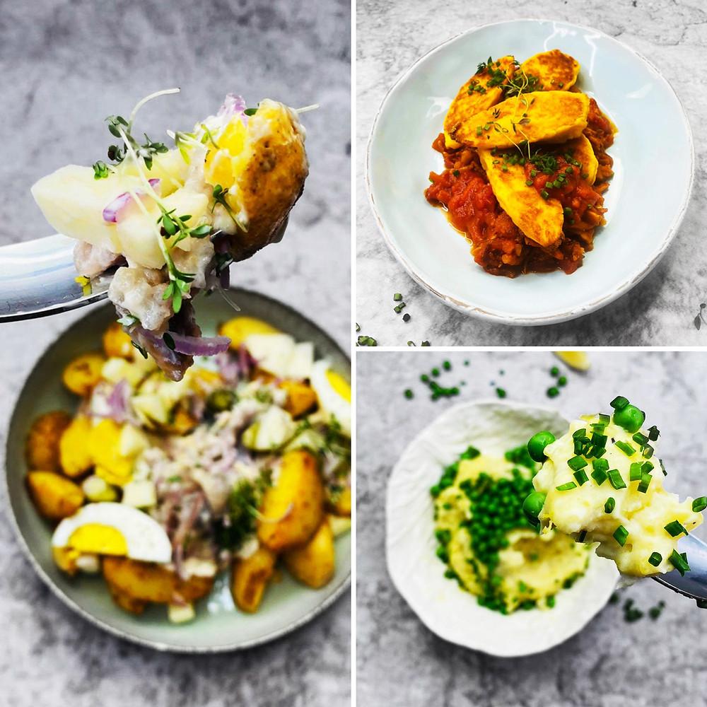 Alfo Ivanausko receptai: bulvių košė, keptų bulvių ir silkės salotos, blynai-švilpikai